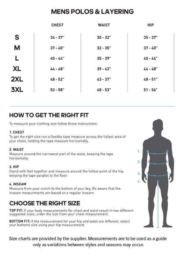 adidas shirt sizing chart