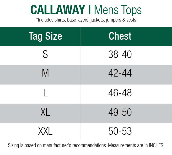 callaway-jumpers-mens size chart