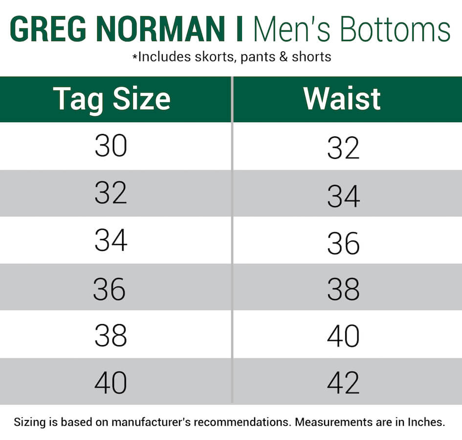 gregnorman-shorts-mens size chart