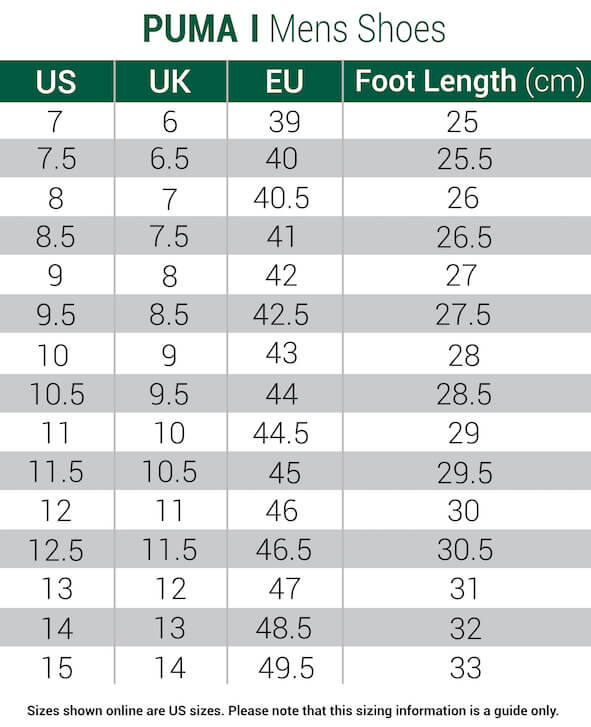 puma-shoes-mens size chart